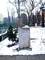 Ion Creangă`bust in the courtyard of Pogor House. jpg.JPG