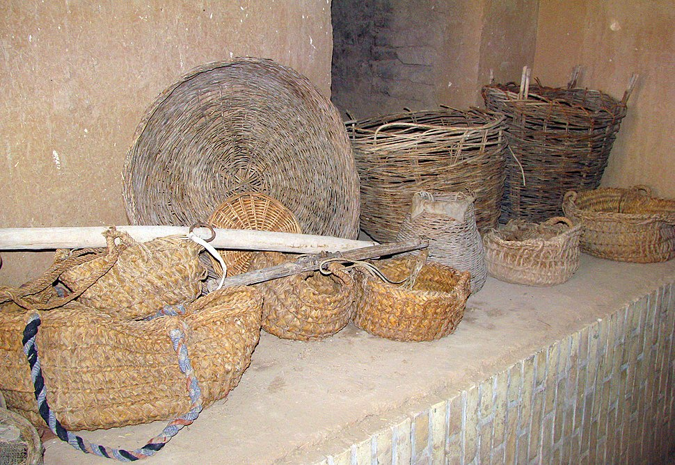Iranian baskets made of wicker and palm