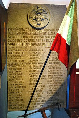 Irish immigration to Mexico - Tribute to the Irish soldiers who switched sides during the Mexican–American War at the Museo Nacional de las Intervenciones