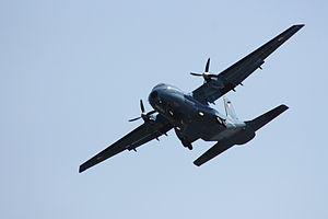 Irish Air Corps CASA aircraft, Newcastle, County Down, August 2010 (02).JPG