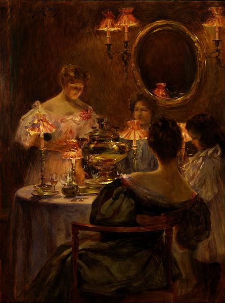 Samovar Oil Painting