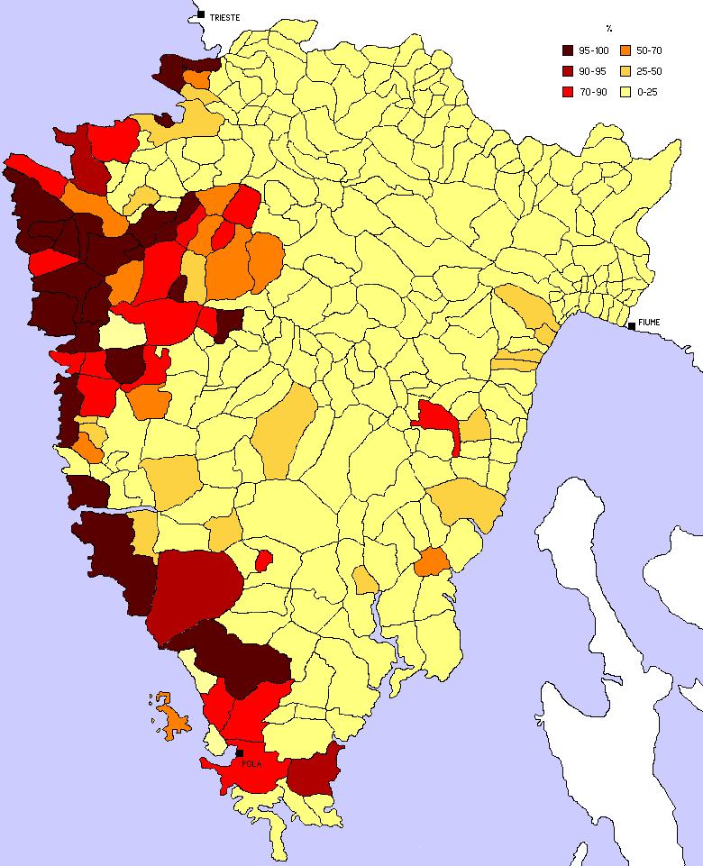 Istria census 1910