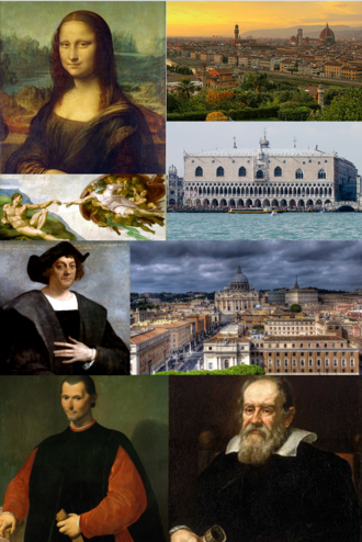 Italian Renaissance - Clockwise from top