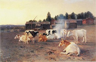 Cows in Turf Smoke