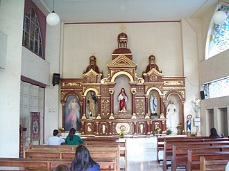 Davao Cathedral - Side chapel and altarpiece.