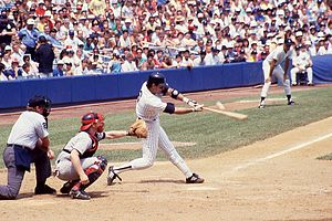 Jack Clark (baseball) - Clark playing for the New York Yankees in a game against the Boston Red Sox in Yankee Stadium on September 25, 1988