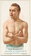 Jack McAuliffe, Pugilist, from World's Champions, Series 1 (N28) for Allen & Ginter Cigarettes MET DP827427.jpg