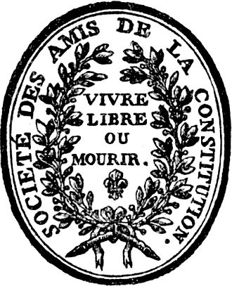 Jacobin - Seal of the Jacobin Club from 1789–1792, during the transition from Absolutism to Constitutional monarchy