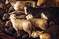Jacopo bassano, orfeo incanta gli animali, 1585 ca. 07 pecore capre conigli.jpg