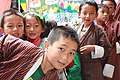 Jakar tshechu, school children (15226200413).jpg