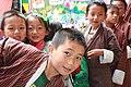 Jakar tshechu, school children (15226200413).jpg