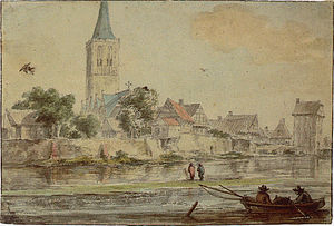 Schüttorf - Jacob Isaakszoon van Ruisdael: View of the Town of Schüttorf from the East, about 1650