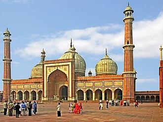 Old Delhi - Jama Masjid built by Shah Jahan, 1656.