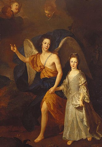 1699 in art - Image: James Francis Edward and Louisa Maria Stuart by Alexis Simon Belle