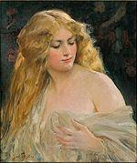 Calypso Blonde Haired Goddess By Jan Styka 20th Century