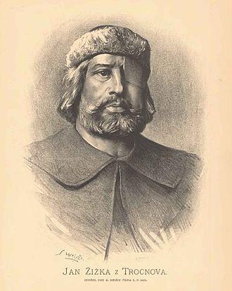 Jan Žižka - Jan Žižka z Trocnova, fictional portrait by Jan Vilímek