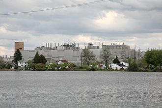 Janesville Assembly Plant - View of Janesville Assembly Plant from across Rock River