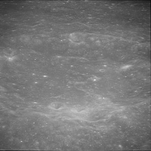 Jansky (crater) - Oblique view from Apollo 11