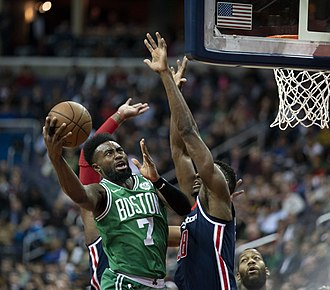 Jaylen Brown - Brown playing for the Celtics in 2018