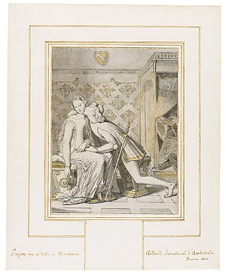 Paolo and Francesca (Ingres) - Image: Jean Auguste Dominique Ingres Paolo et Francesca (1816 drawing)