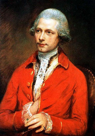 John Joseph Merlin - Portrait of John Joseph Merlin by Thomas Gainsborough, 1781