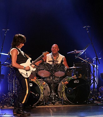 Narada Michael Walden - Walden with guitarist Jeff Beck in 2011
