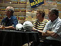 Jeff Tedford, Teri McKeever, Mike Montgomery at 2009 Coaches Tour in SJ.JPG