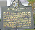 Jefferson Davis Memorial right marker, Irwin County, GA, US.jpg