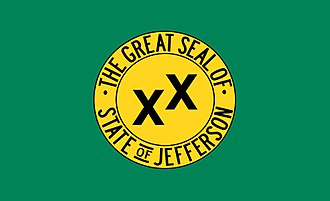 Jefferson (proposed Pacific state) - Jefferson state flag