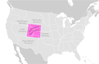 Constitution of Colorado - Map of the extralegal Territory of Jefferson
