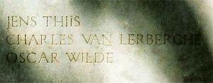 Jens Thiis - Detail of inscription