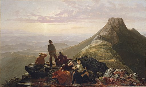 Jerome Thompson-The Belated Party on Mansfield Mountain-1858