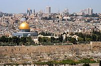 Jerusalem Old City from Mount of Olives.