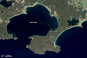 Jervis Bay - Jervis Bay from orbit