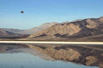 Saline Valley, California - Jets flying at high speeds and low altitudes are prevalent above the valley