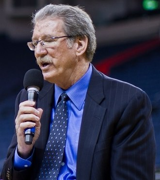 Jim Barnett (basketball) - Barnett conducts an interview in 2011.