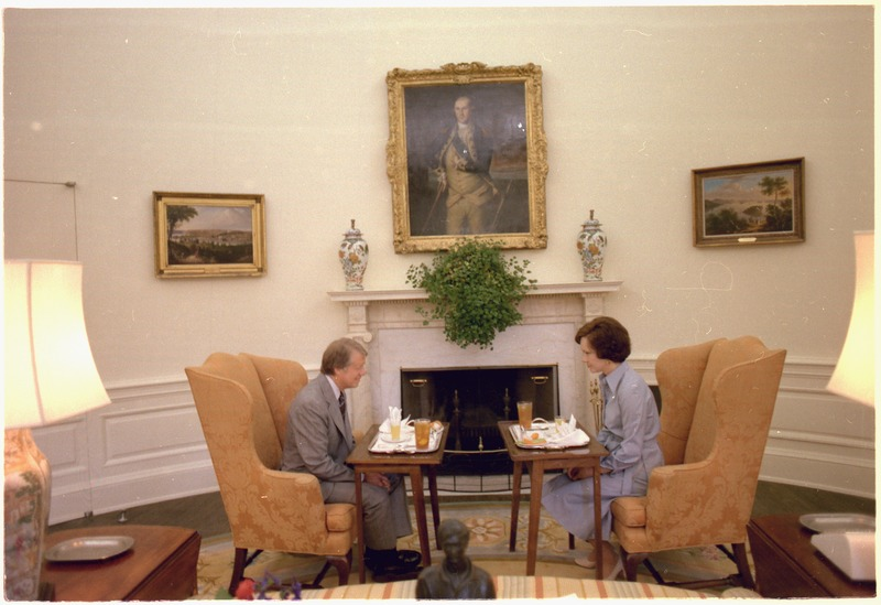 File Jimmy Carter And Rosalynn Carter Having Lunch In The