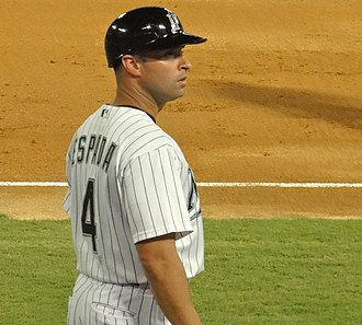 Joe Espada - Espada during his tenure with the Florida Marlins in 2011
