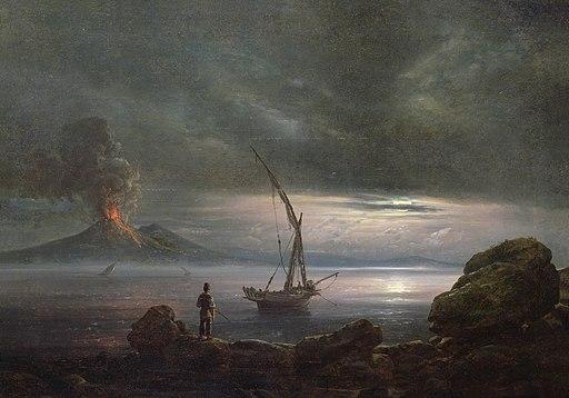 Johan Christian Claussen Dahl - Vulkanen på kvelden, Sicilia
