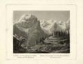 Johann Jakob Meyer - L'Ortler e le montagne al confine della Valtellina dalla strada sopra Trafoi - 1831.png