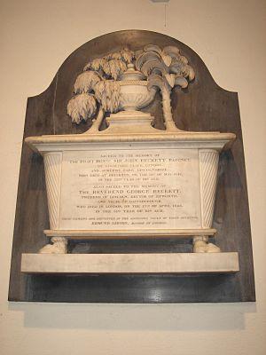 Sir John Beckett, 2nd Baronet - Funerary monument, All Saints, Fulham, London