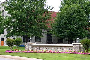 John Brown University - Campus entrance