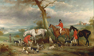 Thomas Wilkinson, M.F.H., with the Hurworth Foxhound