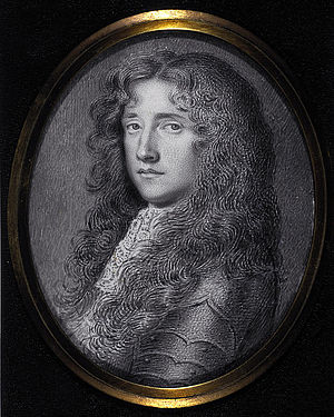 "Bonnie Dundee - John Graham of Claverhouse, Viscount Dundee, 1648 - 1689 (nicknamed ""Bonnie Dundee""). Miniature by David Paton, made between 1660 and 1695. Displayed by the National Galleries of Scotland."