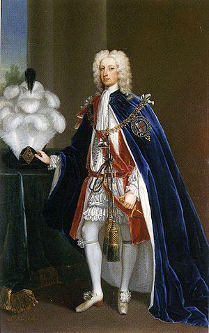 John Manners, 3rd Duke of Rutland - John Manners, 3rd Duke of Rutland in Garter robes, by Charles Jervis, 1725, Belvoir Castle