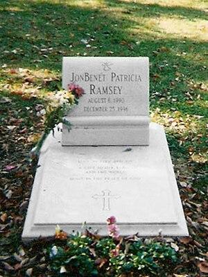 Death of JonBenét Ramsey - JonBenét's grave at Saint James Episcopal Cemetery in Marietta, Georgia.