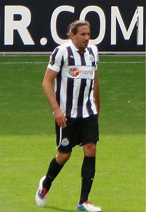 Jonás Gutiérrez - Jonás playing for Newcastle in 2012.