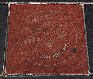 Joni Mitchell - Joni Mitchell's star on Canada's Walk of Fame