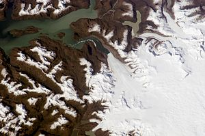Jorge Montt Glacier - Image: Jorge Montt Glaciar (ISS016 E 12263)