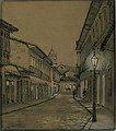 José Wasth Rodrigues - Aspecto da Rua do Rosário à noite em 1862, Acervo do Museu Paulista da USP (cropped).jpg